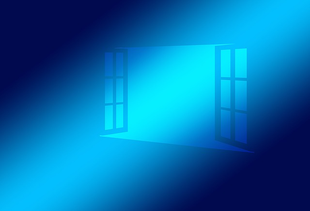 Window Open Blue Operating System